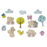 Forever Friends Wall Figures 14pcs